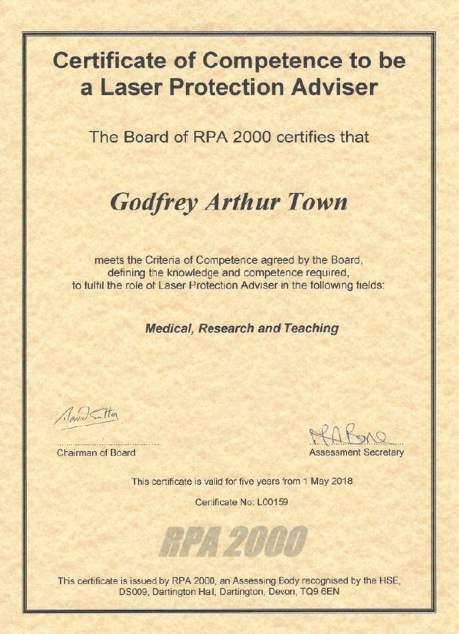 LPA RPA 2000 certificate