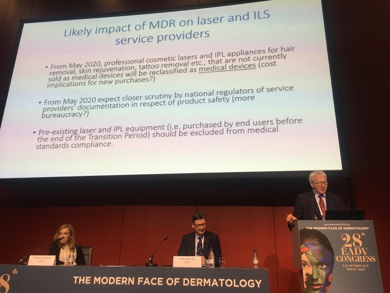 Godfrey Town presentation at EADV conference